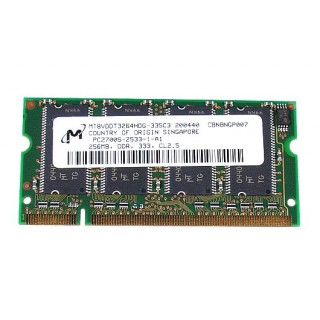 661-3472 SDRAM, 256 MB, DDR 333, SO-DIMM - 12inch 1.2GHz - 14inch 1.33GHz iBook G6