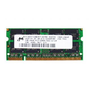 661-3962 SDRAM, 1 GB, DDR2, 667, SO-DIMM -  13inch Macbook 1.83-2GHz Core Duo A1183