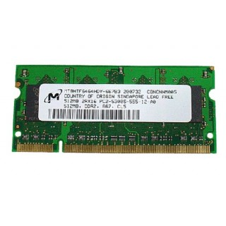 661-4035 SDRAM, SO-DIMM, 512MB, DDR2, 667 - 17inch 1.83-2.0GHz Core 2 Duo iMac