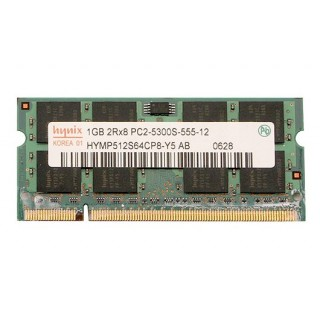 661-4214 SDRAM, 1 GB, DDR2, 667, SO-DIMM -  13inch Macbook 1.83-2GHz Core2Duo Late 2006 A1183
