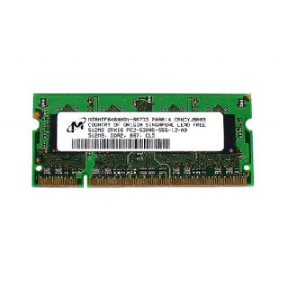 661-4573 SDRAM, 512 MB, DDR2 667, SO-DIMM -  Macbook 2GHz-2.2GHz Core2Duo SR Late 2007 A1183